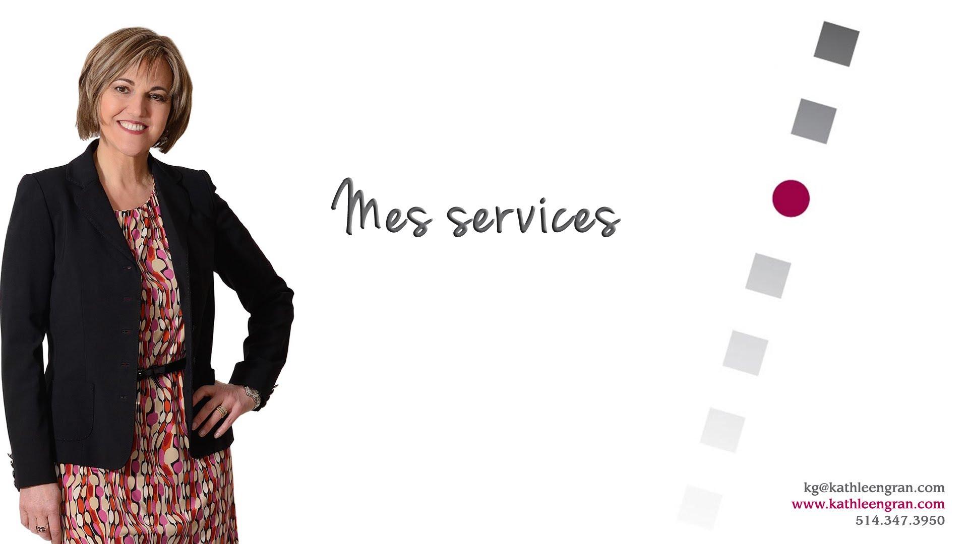Services offerts par Kathleen Gran, spécialiste en branding